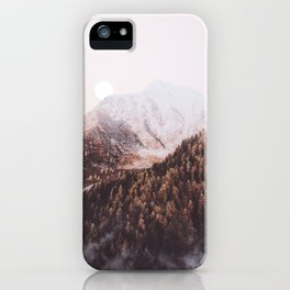 Warm Forest Moon iPhone Case