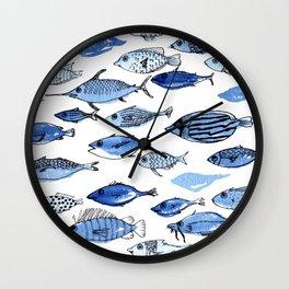 Aquarium blue fishes Wall Clock