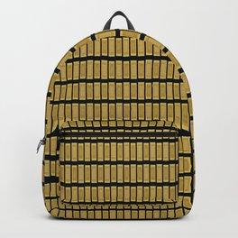 Gold Bar Pattern Backpack