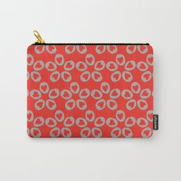 Hearts grey & red Carry-All Pouch