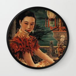 Vintage Chinese Movie Poster Wall Clock