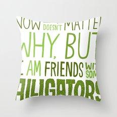Aligator Friends Throw Pillow