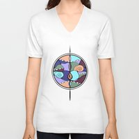 compass V-neck T-shirts featuring Compass by DebS Digs Photo Art