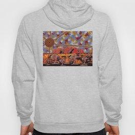 Uluru (Ayers Rock) Authentic Aboriginal Art Hoody
