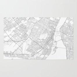 Montreal, Canada Minimalist Map Rug