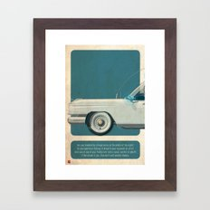 Ecto-1 from Ghostbusters part I of III Framed Art Print
