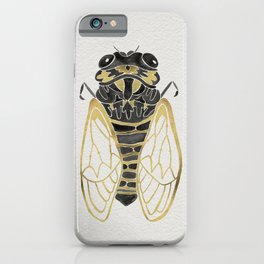 Cicada – Black & Gold iPhone Case