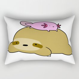 Axolotl and Sloth Rectangular Pillow