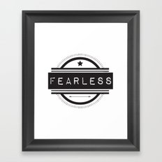 #Fearless Framed Art Print