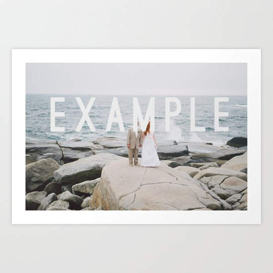 Example for Clients Art Print