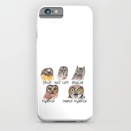 Owl Caffeine Meter -  funny owl coffee iPhone Case