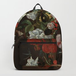 "Jacob Marrel ""Flowers in a glass vase"" Backpack"
