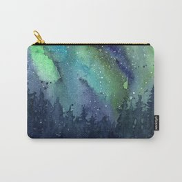 Galaxy Aurora Northern Lights Nebula Space Watercolor Carry-All Pouch