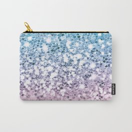Sparkly Unicorn Blue Lilac & Pink Ombre Carry-All Pouch