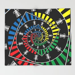 Spinning Disc Golf Baskets Throw Blanket