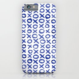 Xoxo valentine's day - blue iPhone Case