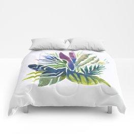 Leaf fan Comforters