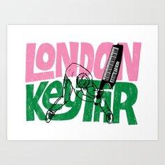 London Keytar Art Print