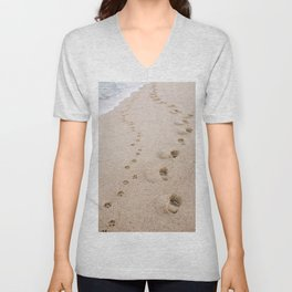 Footprints in the Sand Unisex V-Neck