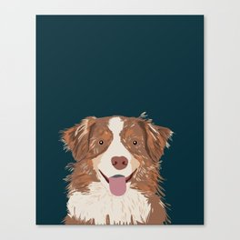 Hollis - Australian Shepherd gifts for dog owners pet lovers dog people gifts for dog person Canvas Print