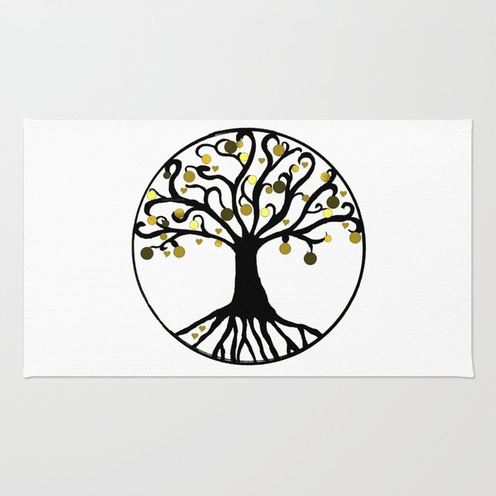"""Yggdrasil"",Golden,Tree of Life,HOME DECOR,Duvet Covers,Comforters,Bed spreads,Blankets,Backpack Rug"