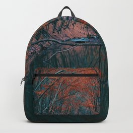 Romanian forest in autumn Backpack