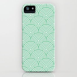 Scales - Green & White #353 iPhone Case