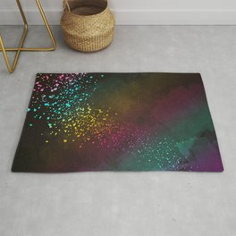 Explosion of Feelings - Abstract Texture Rug