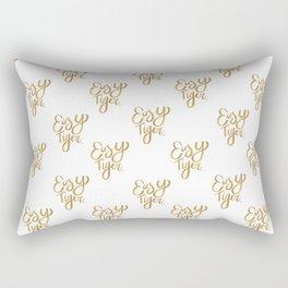 Easy Tiger (Gold Palette) Rectangular Pillow