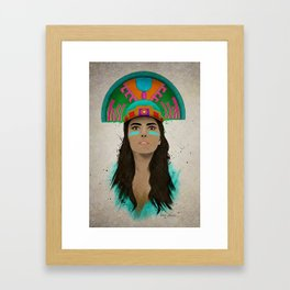aztec princess  Framed Art Print