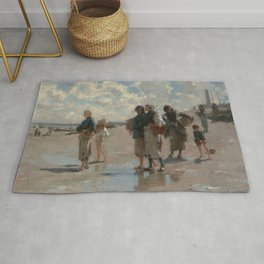 Fishing for Oysters at Cancale - John Sargent Rug