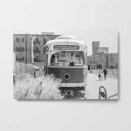 On the Waterfront Trolley Metal Print