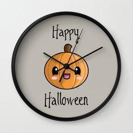 Happy Halloween Pumpkin Kawaii :) Wall Clock