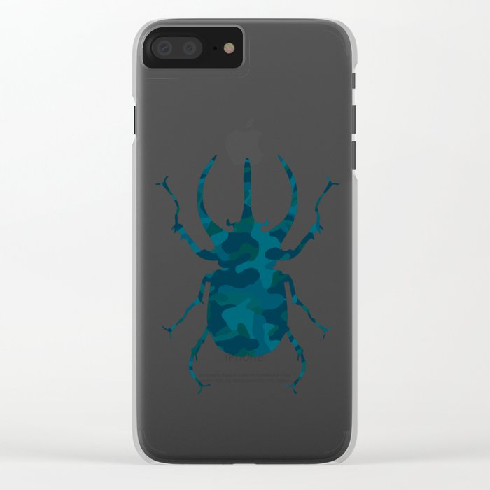 Original Camouflage Pattern Scarab Beetle Clear iPhone Case