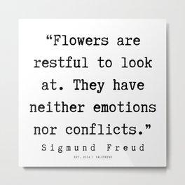 22 |   Sigmund Freud Quotes | 190926 Metal Print