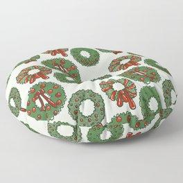 Winter Wreaths Floor Pillow