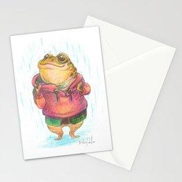 Enjoying the Rain Illustration Stationery Cards