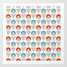 Mt Fuji Dots Art Print