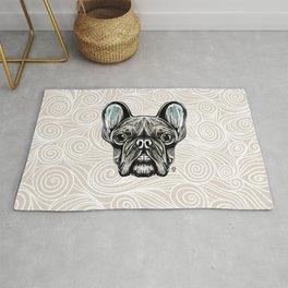 French Bulldog Smilling Rug