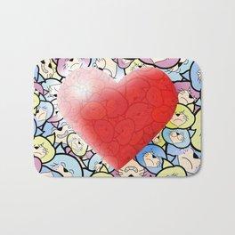Catty Heart Bath Mat
