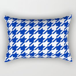 Florida fan gators university orange and blue team spirit football college sports houndstooth Rectangular Pillow