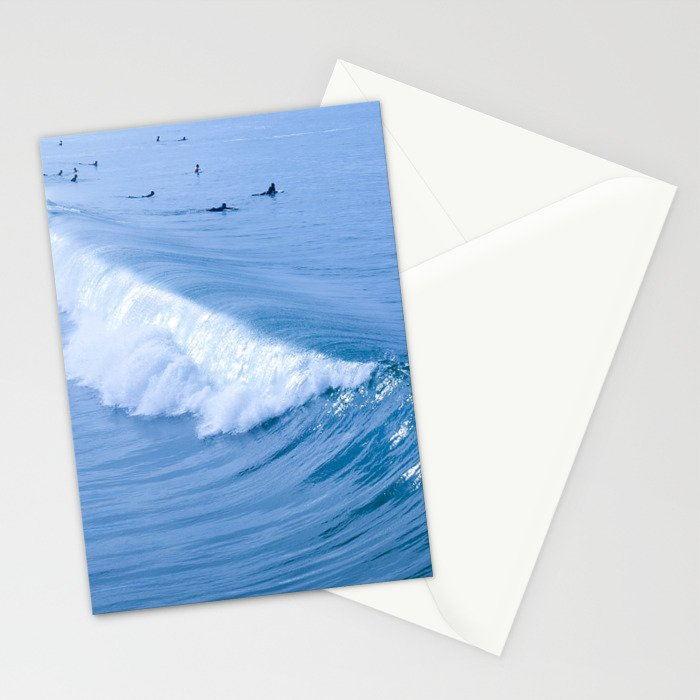 Waiting for the Perfect Wave Stationery Cards