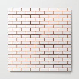 Copper Subway Tiles Metal Print