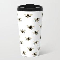 Bumble Bee pattern Metal Travel Mug