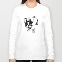 french bulldog Long Sleeve T-shirts featuring French bulldog by Pendientera