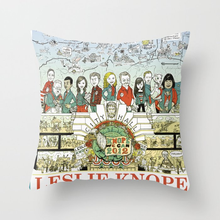 Leslie Knope for City Council - Parks and Recreation Dept. Throw Pillow
