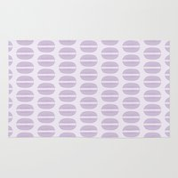 macaron Area & Throw Rugs featuring Purple Macaron Pattern - Lavender Macaroon by French Macaron Art Print and Decor Store