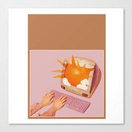 Retro Internet Search Canvas Print
