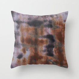 Copper and Iron abstract pattern Throw Pillow