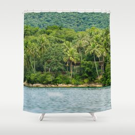 House in a Island Shower Curtain